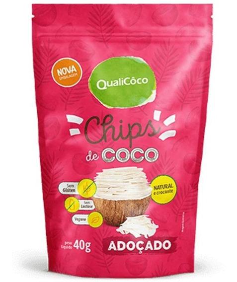 Chips De Coco Adoçado 40g - Qualicoco