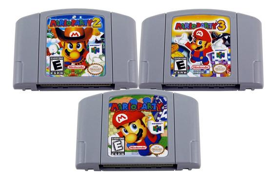 Kit Mario Party 1 2 3 Nintendo 64 N64 - Novo Salvando