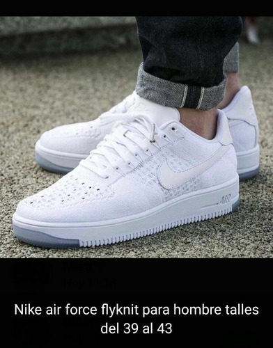 air force 1 flyknit blancas