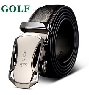 Cinto Social Masculino Golf Em Couro E Fivela Automática P5