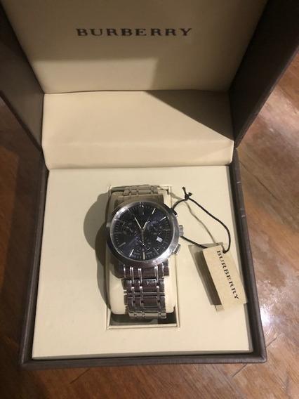 Relógio Burberry Com Cronógrafo Muito Novo Ótimo Presente