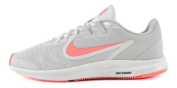 Tenis Nike Downshifter 9 Mujer Gris Rosa Original Aq7486-010