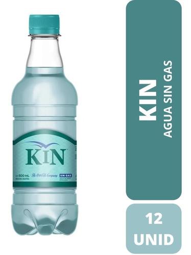 Agua De Mesa Mineral Kin Sin Gas 500ml - Pack X12 Botellas