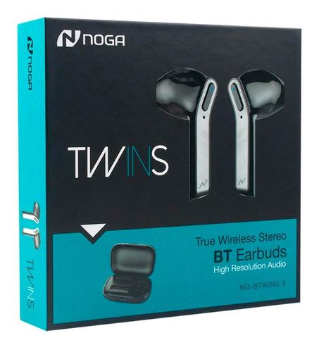 Auriculares Bluetooth In Ear Twins 3 Wireless + Estuche Noga