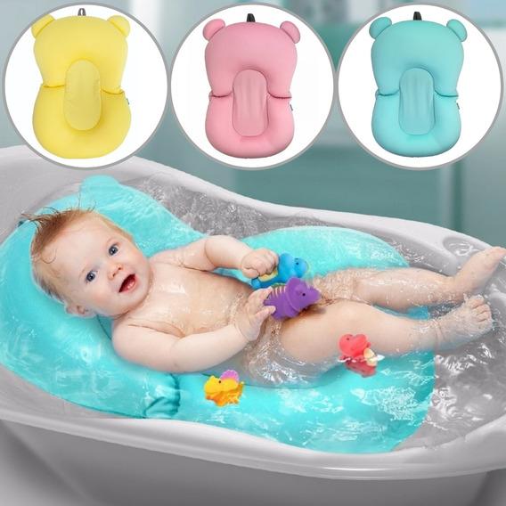 Almofada De Banho Bebe Boia De Banheira Suporte Buba