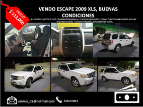 Ford Escape 2009, 4 Cilindros, Xls.