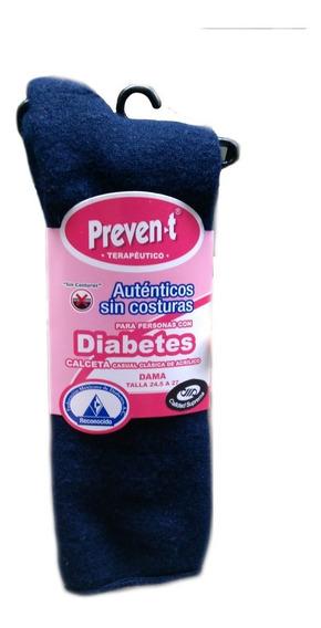 Calcetas Preven-t Pie Diabetico, Dama, Afelpada Corta