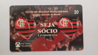 Cartão Raro Da Telerj 08/97. Tir. 30 Mil. Flamengo