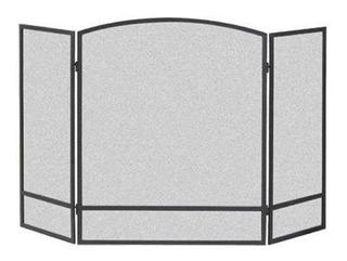 Pantalla De 3 Paneles Con Doble Barra Para Chimenea De Acer