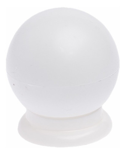 Imagem 1 de 3 de Kit 20 Puxador Bola Branca Redondo Gaveta E Porta