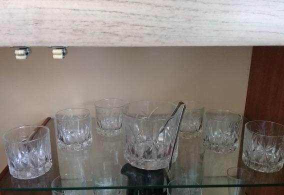 Juego De 6 Vasos De Whisky + Hielera