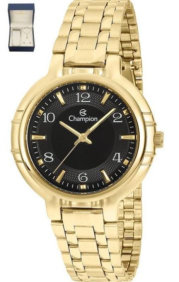 Kit De Relógio Champion Analógico Feminino Cn20444x Dourado