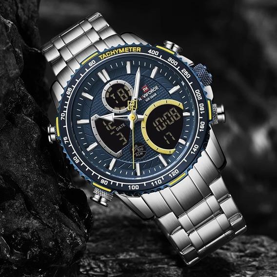 Relógio Naviforce Masculino Original De Luxo Tachymeter 9182