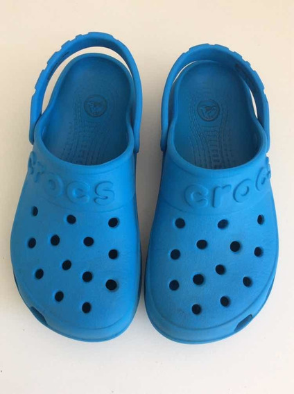 Crocs Originales Impecables C 13 ( 30/31) Turquesas 19.5 Cm
