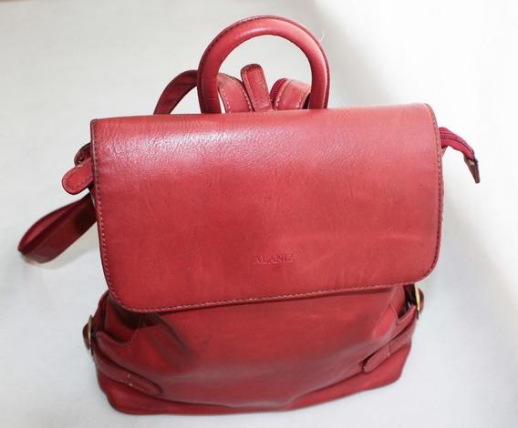 Cartera-mochila De Cuero