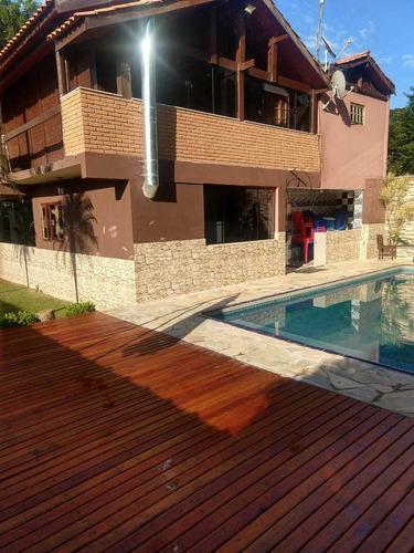 Chácara Com Piscina - Represa Dentro Do Condomínio Em Ibiúna