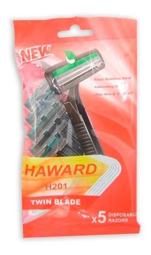 Afeitadora Haward 2 Hojas Pack X 5/h201