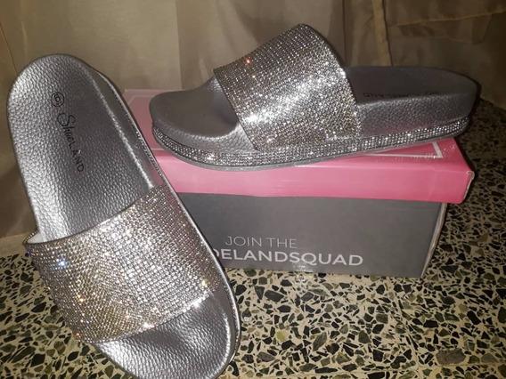 Sandalias De Pedrería Shoe Land..importadas ¡¡¡¡