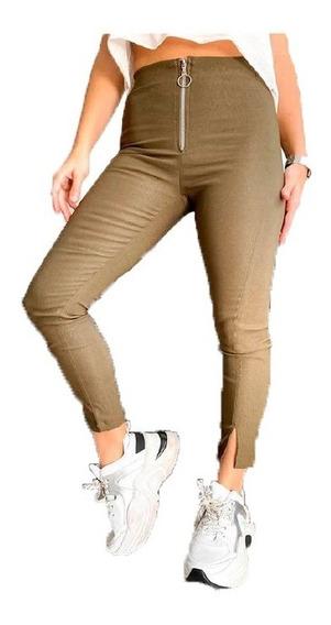 Pantalon Metalizado Bengalina Cierre | Inversa (4217)