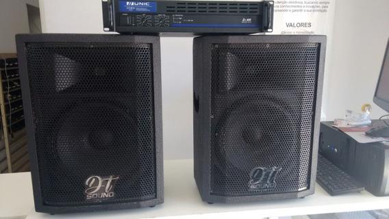Amplificador 400w + Caixas 12