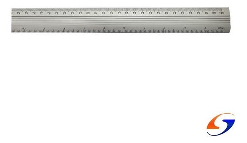 Regla Aluminio 100cm. Serviciopapelero