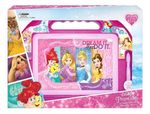 Pizarra Magica Blanco Y Negro 39x28cm Princesas Disney