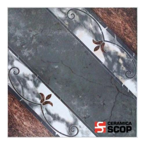 Ceramica Moca Beige 45x45 Scop Brillante Alto Transito Piso