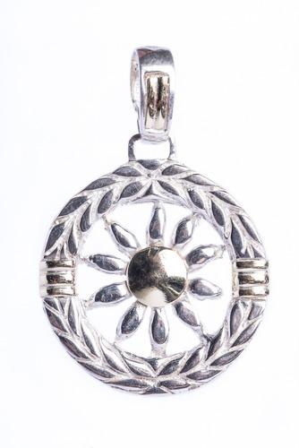 Medalla De Sol En Plata Y Lamina De Oro