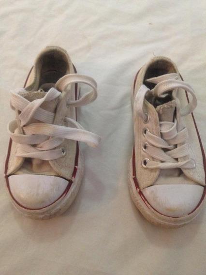 Zapatos Deportivos Para Niños Blancos. Talla: 21