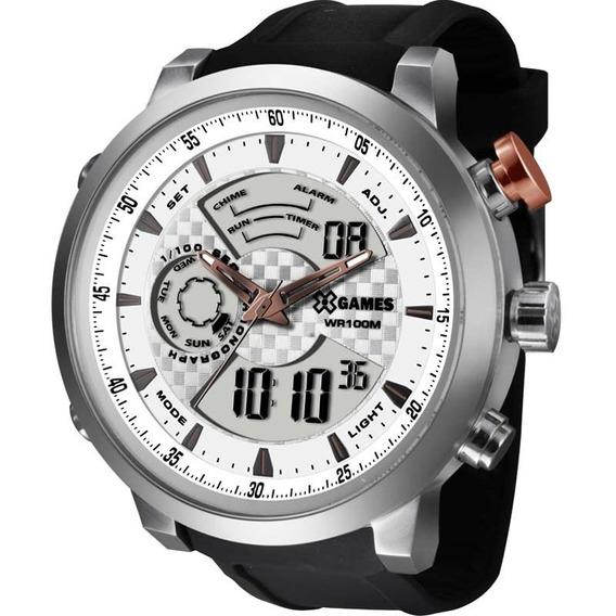 Relógio X-games Masculino Anadigi Xmspa016 S2px Aço Prata