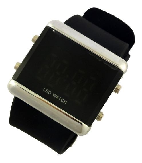 Relógio De Pulso Masculino Tela Led Pulseira Borracha B5657