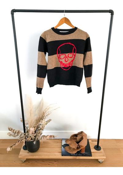 Sweater Maria Cher Estampado Rayado Talle 2