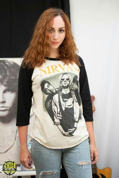 Playera Nirvana Antigua Vintage De 1993 90s Kurt Cobain