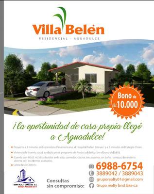 Se Parte De Nuestro Proyecto Villa Belén En Aguadulce