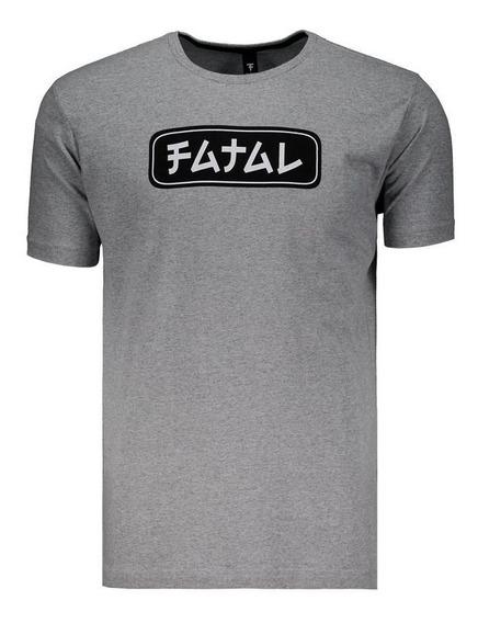 Camiseta Fatal Logo Estampada Cinza E Preta