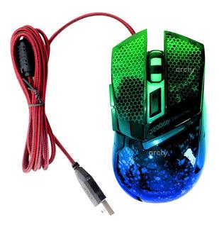 Archy Mouse De Juego Gamer Con 7 Leds Y 6 Botones High Speed