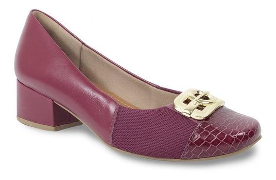 Sapato Usaflex Care Joanete Feminino Couro Croco Ab8505