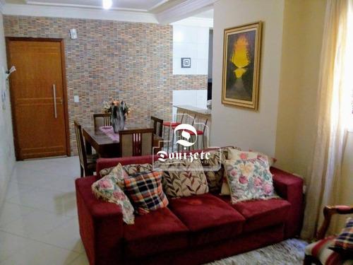 Cobertura Com 2 Dormitórios À Venda, 136 M² Por R$ 479.000,00 - Paraíso - Santo André/sp - Co1803