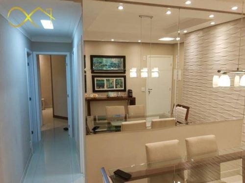 Apartamento Com 3 Dormitórios À Venda, 69 M² Por  Première Morumbi - Paulínia/sp - Ap0963