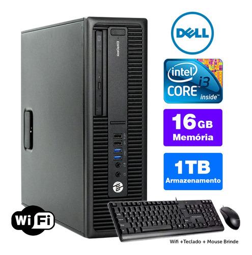 Imagem 1 de 5 de Desktop Usado Hp Compaq Sff I3 4g 16gb 1tb Brinde