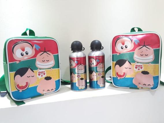 Mochila Com Squeez Personalizadas 10 Kits