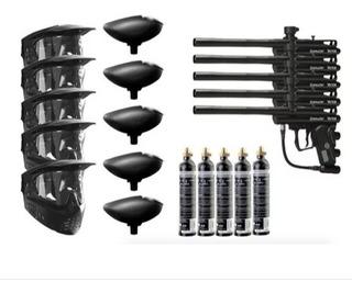 Pistolas Gotcha 5 Equipos Completos Spyder Victor Paintball