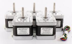 Kit 5 Motores Nema 17 4kg 17hs4401 Impressora 3 D