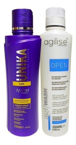 Imagem 1 de 4 de Progressiva Agilise Unika 250ml Ganhe Shampoo Open 250ml