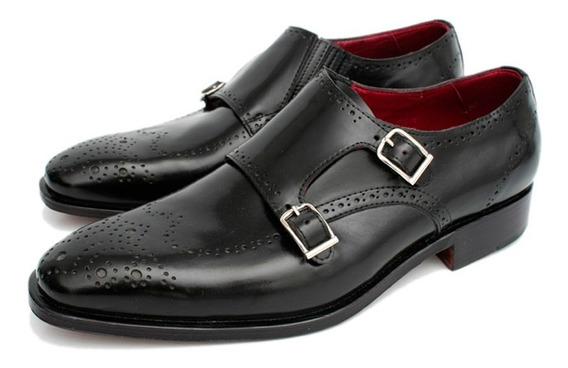 Zapato Picado De Hombre Formal Doble Hebilla Daniel Hechter