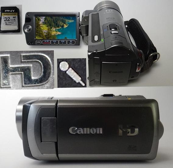 Filmadora Canon Vixia Hf100 Full Hd Entrada De Microfone