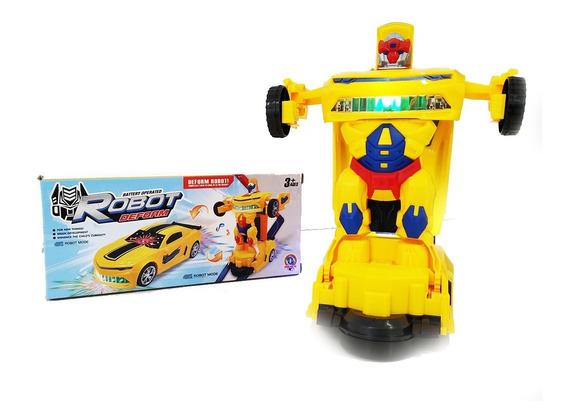 Carro Robô Transformers Carrinhos Transforma Promoção Barato
