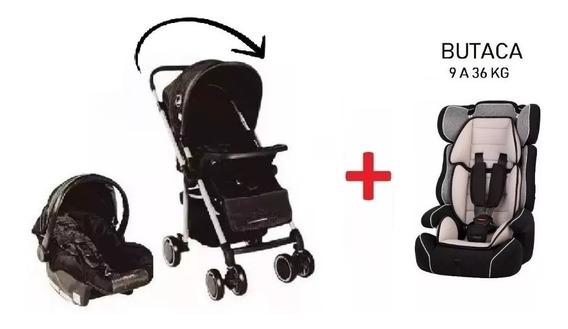 Coche Cuna Bebe Reversible + Huevito + Butaca Baby Shopping