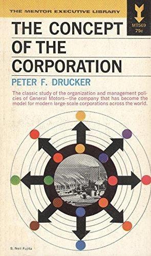 Imagen 1 de 1 de The Concept Of The Corporation. Peter Drucker