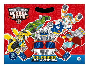 Livro Infantil - Transformers - Rescue Bots - Colorindo Uma